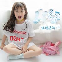 儿童袜子春秋薄款夏季网眼袜童袜宝宝婴儿袜纯棉新生儿地板袜5双