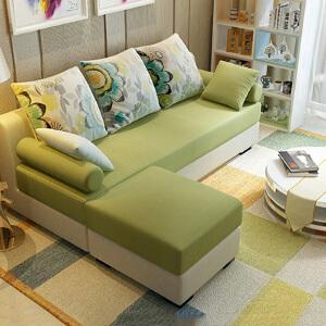 布艺沙发 家用客厅多功能休闲贵妃沙发组合现代简约布艺小户型单双人多人可拆洗沙发办公室整装沙发床家具用品