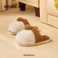 朴西柯基毛毛拖鞋女冬季可爱保暖防滑儿童棉拖鞋冬天家居室内家用