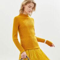 【到手价:109元】Amii极简休闲外穿半高领毛衣女2019秋冬新款修身打底针织衫上衣