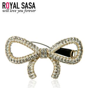 皇家莎莎Royalsasa韩版头饰流行时尚人气款合金人造水晶发夹发饰-钻蝶舞动