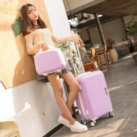 小清新行李箱万向轮旅行箱20寸登机学生韩版女22寸24寸子母拉杆箱