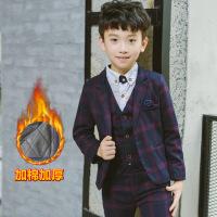 宝宝儿童小童西装套装三件套男加厚韩版男童小西服秋冬小学生礼服
