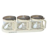 玻璃调料盒盐罐调味罐家用佐料瓶收纳盒组合装厨房用品调味瓶套装