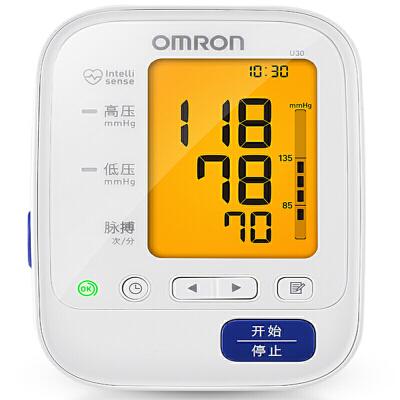 [当当自营]欧姆龙(OMRON)电子血压计 U30高清背光灯,佩戴警示灯提示,血压警示灯