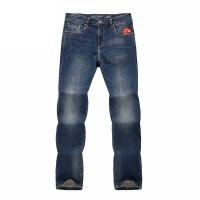 学生直筒牛仔裤男士商务休闲修身男裤春夏薄青少年长裤 靛蓝色