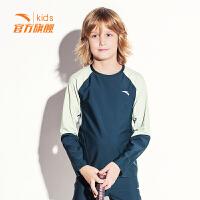 安踏(ANTA)官方旗舰店童装男女同款中大童运动紧身衣套头卫衣6-16岁A37917430