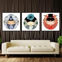 印花十字绣新款客厅卧室卡通儿童房红楼梦人物小幅画简单简约现代