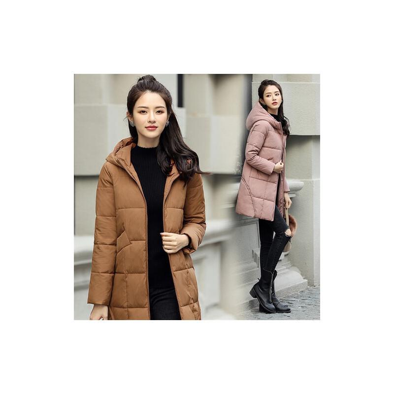 冬季外套女棉衣中长款韩版新款时尚宽松连帽休闲纯色加厚 一般在付款后3-90天左右发货,具体发货时间请以与客服协商的时间为准