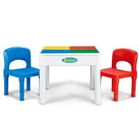 小鲁班积木男孩4女孩儿童玩具3-6周岁桌拼装大颗粒桌子