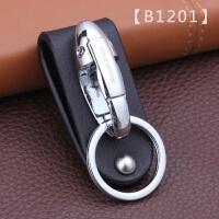 博友真皮钥匙扣男腰挂穿皮带单环牛皮手工男士汽车锁匙扣圈挂件