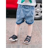 男童牛仔短裤宝宝薄款外穿裤子潮新款韩版潮儿童运动裤小童牛仔裤