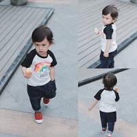 婴童装女宝宝春装2婴儿短袖T恤0洋气1岁春秋夏季男童打底衫