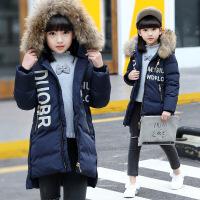 女童羽绒冬季新款韩版加厚棉袄中大童女孩棉衣中长款外套