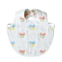 儿童围嘴纱布口水巾宝宝吃饭围兜系带罩衣反穿围裙