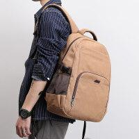 学生书包男士背包休闲韩版双肩包旅行包复古帆布包男包电脑包