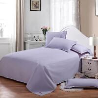 纯棉老粗布床单单件全棉布加厚纯色床单双人素色被单1.5米1.8m床