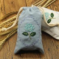手工DIY刺绣材料包手机袋子束口袋香包零钱包