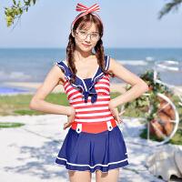 可爱学生儿童游泳衣女儿童连体泳衣女大童泳衣 少女 女童泳衣 红色 蝴蝶结