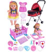 儿童医生玩具女孩过家家购物车带洋娃娃婴儿童仿真手推车生日礼物