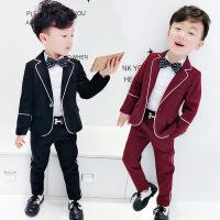 儿童礼服英伦风男童西装套装春秋宝宝小西服男宝潮衣幼儿时尚潮装