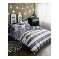 家纺床上用品斜纹北欧风格被套床单四件套、 被套200*230 床单230*245 枕套1对