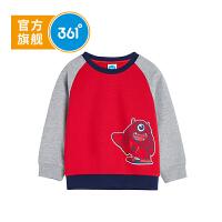 【儿童节立减价:41.7】361度童装 男小童套头卫衣春季新款儿童打底衫长袖 N51834301