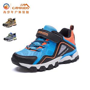 CAMKIDS垦牧户外男童登山鞋2017冬季加绒中大童儿童运动鞋男童鞋