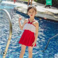 儿童泳衣女连体裙式女童游泳衣可爱宝宝中大童ins女童泳衣