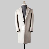 2017韩版秋冬新款毛呢大衣男中长款羊绒外套青年风衣宽松加厚呢子 2