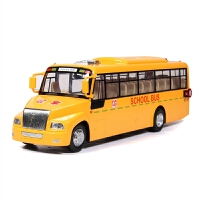 校车玩具 儿童校车模型合金巴士公交车男孩小汽车回力玩具车