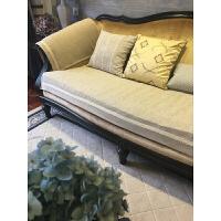 加厚棉麻沙发垫四季沙发巾布艺加厚防滑简约现代客厅米咖色