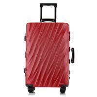 七夕礼物拉杆箱万向轮24寸铝框箱旅行箱女行李箱26寸箱包硬箱登机箱 红色 29寸
