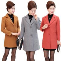 中年女装冬装毛呢外套40-50岁妈妈装中长款中老年秋冬装呢子大衣