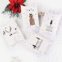 圣诞节糖果盒平安夜礼品盒卡通礼物盒烘焙饼干包装枕头盒定做logo