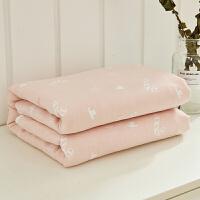 三层纱布天丝棉毛巾被婴儿童午睡盖毯空调毯单人双人毯子夏凉被薄