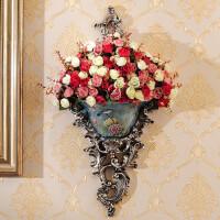 欧式壁挂壁饰花瓶墙上创意树脂挂饰家装饰品家居墙壁复古花盆挂件