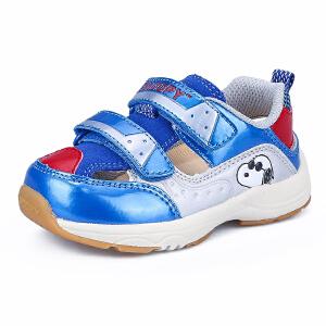 史努比童鞋男童凉鞋宝宝凉鞋健康舒适机能鞋
