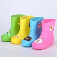 秋冬儿童雨鞋男女童防滑水鞋套胶鞋宝宝可爱卡通小孩加绒保暖雨靴