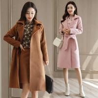 套装女秋冬修身气质毛呢外套女风衣裙三件套大衣