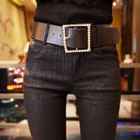 秋冬加绒外穿打底裤女高腰弹力紧身小脚铅笔裤显瘦薄款长裤子