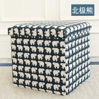 多功能收纳凳子储物凳可坐 折叠椅子家用沙发换鞋凳整理盒箱T