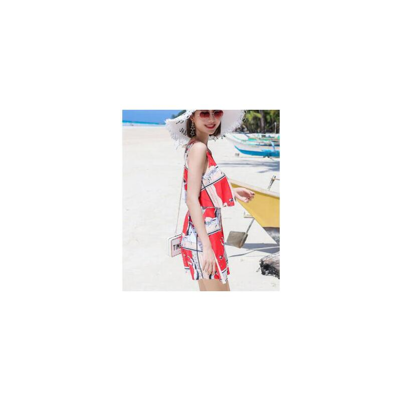 游泳衣女时尚保守新款显瘦遮肚时尚性感韩国连体裙式平角温泉泳装 品质保证 售后无忧