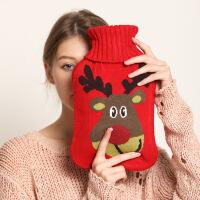 热水袋注水暖水袋防爆可爱学生大号针织套可拆洗暖手宝