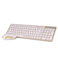 七夕礼物 无线键盘鼠标套装电脑键鼠otg巧克力 家用智能电视和笔记本台式机键盘鼠标 黑色 无线MD260