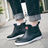 雨鞋男士防水鞋低帮短筒雨靴男夏季胶鞋厨房工作防滑套鞋时尚