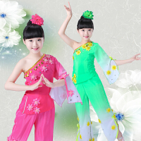儿童秧歌服演出服新款茉莉花古典舞蹈民族扇子舞表演服装女