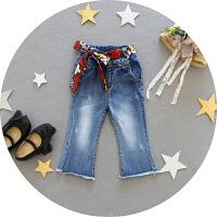 1-3岁女宝宝弹力牛仔裤女童春秋时尚长款女婴儿裤子潮