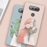 LG V20手机壳LGV20保护套lgv20文艺插画彩绘外壳女款小清新