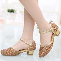 水晶演出鞋少儿拉丁舞鞋女儿童舞蹈鞋女童小学生软底跳舞鞋女孩公主